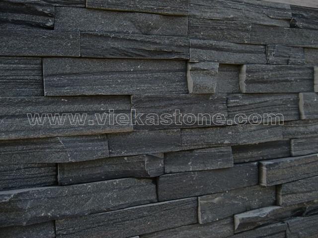black slate charcoal ledgestone veneer s shape lp10-3