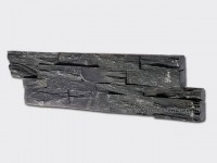 black slate charcoal ledgestone veneer z shape lp09-1