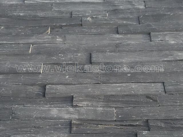 black slate charcoal ledgestone veneer z shape lp09-4