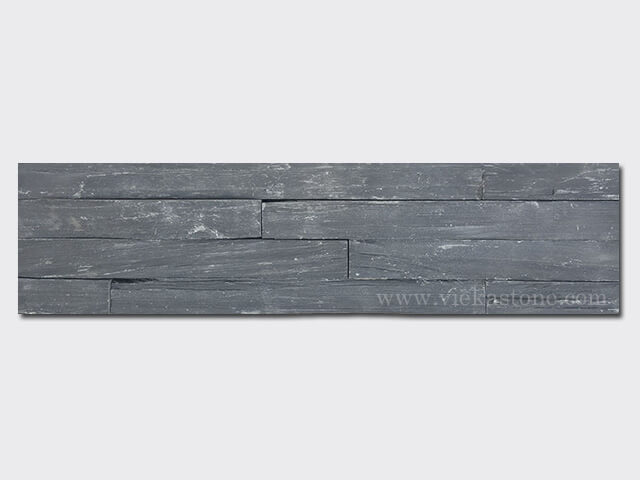 black slate charcolal ledgestone veneer rectangle shape lp08-1