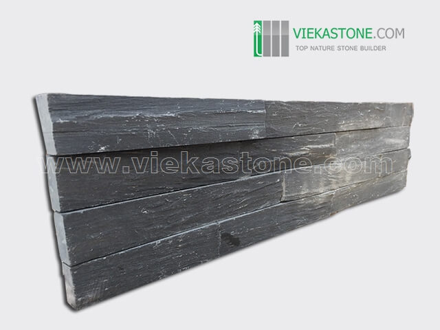 black slate charcolal ledgestone veneer rectangle shape lp08-2