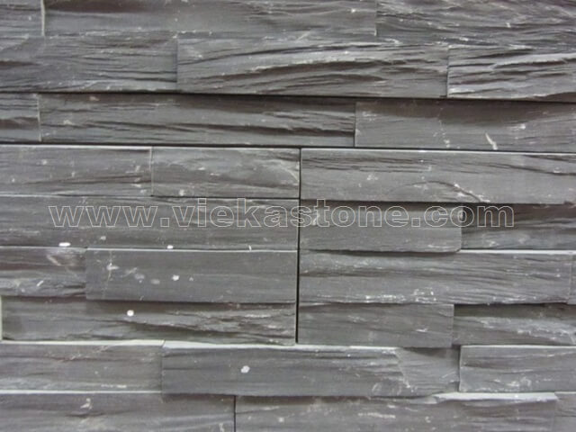 black slate charcolal ledgestone veneer rectangle shape lp08-5