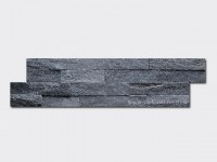Black quartz culture stone wall panel s shape