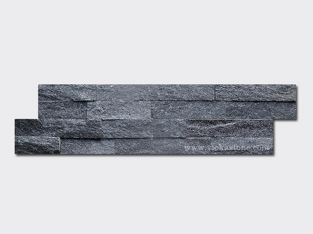 Black quartz culture stone wall panel s shape