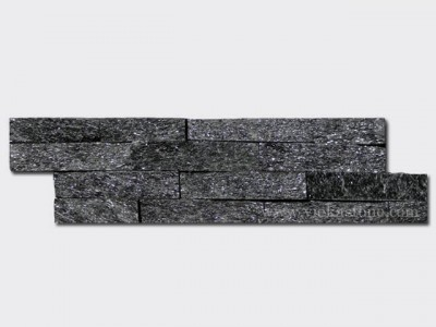 black quartz thin stone veneer slim panel 1