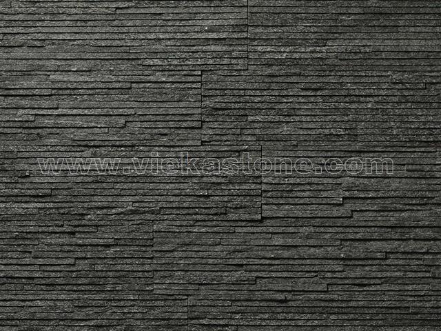 Black Slate Stone Cladding Wall Panel Zp028 Vieka Natural Culture Stone Slate Stacked Stone