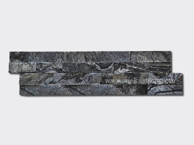 Black wooden marble stone cladding wall panels Z shape 1