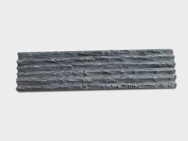 Charcoal Black Slate Stone Panels Wall Cladding Mountain Rectangle Shape 1