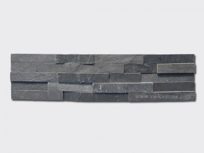Charcoal Black Slate Stone Panels Wall Cladding Rectangle Shape 1