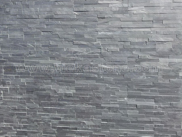 Charcoal Black Slate Stone Panels Wall Cladding Rectangle Shape 5