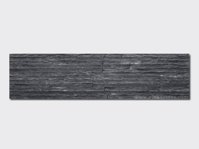 Black Slate Stone Wall : Charcoal black slate stone panels wall cladding rp