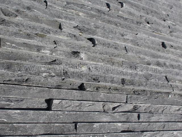 Charcoal Black Slate Stone Panels Wall Cladding Waterfall Rectangle Shape 4