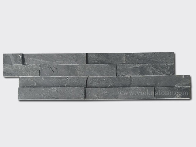 Charcoal Slate Stone Cladding Wall Panels z shape 1