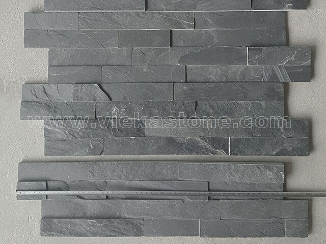 Charcoal Black Slate Stone Cladding Wall Panels Zp002 Vieka Natural Culture Stone Slate Stacked Stone Cladding Marble Mosaic Tile Granite