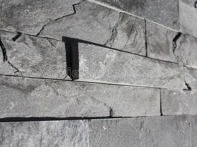 Charcoal Slate Stone Cladding Wall Panels z shape 5