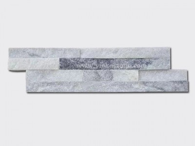 Cloud Grey Quartz Stone Cladding Wall Panels z shape 1