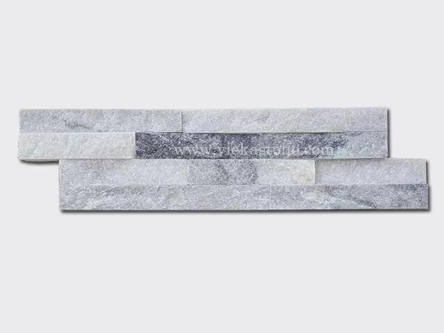Cloud Grey Quartz Stone Cladding Wall Panels z shape 1