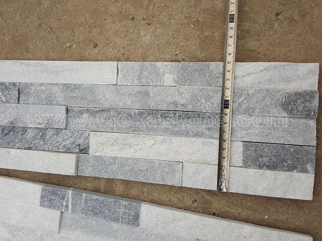 Cloud Grey Stone Panels Wall Cladding Rectangle Shape 2