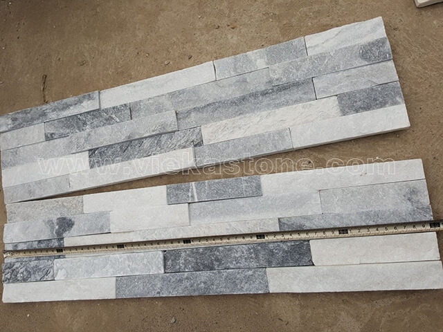 Cloud Grey Stone Panels Wall Cladding Rectangle Shape 3