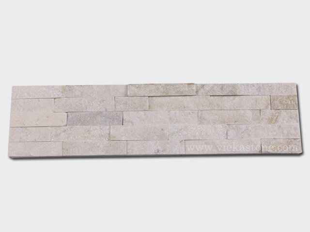 Cream White Quartz Stone Panels Wall Cladding Rectangle Shape 1