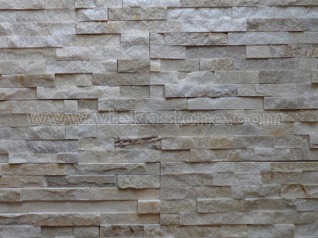Cream White Quartz Culture Stone Wall Panels Sp019 Vieka
