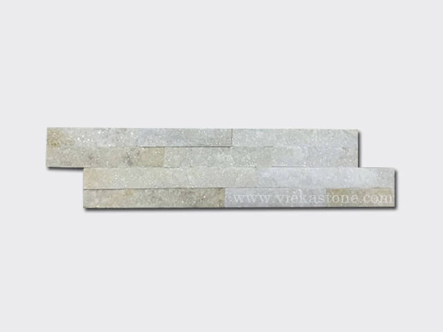cream white quartz thin stone veneer slim panel 1