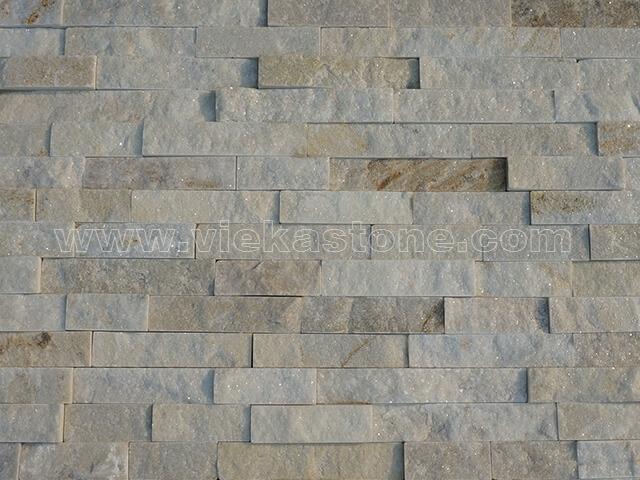 cream white quartz thin stone veneer slim panel 4