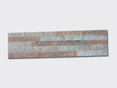 Crystal Pink Stone Panels Wall Cladding Rectangle Shape 1