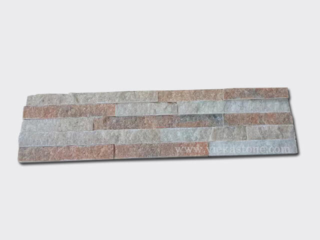 Crystal Pink Stone Panels Wall Cladding Rectangle Shape 2