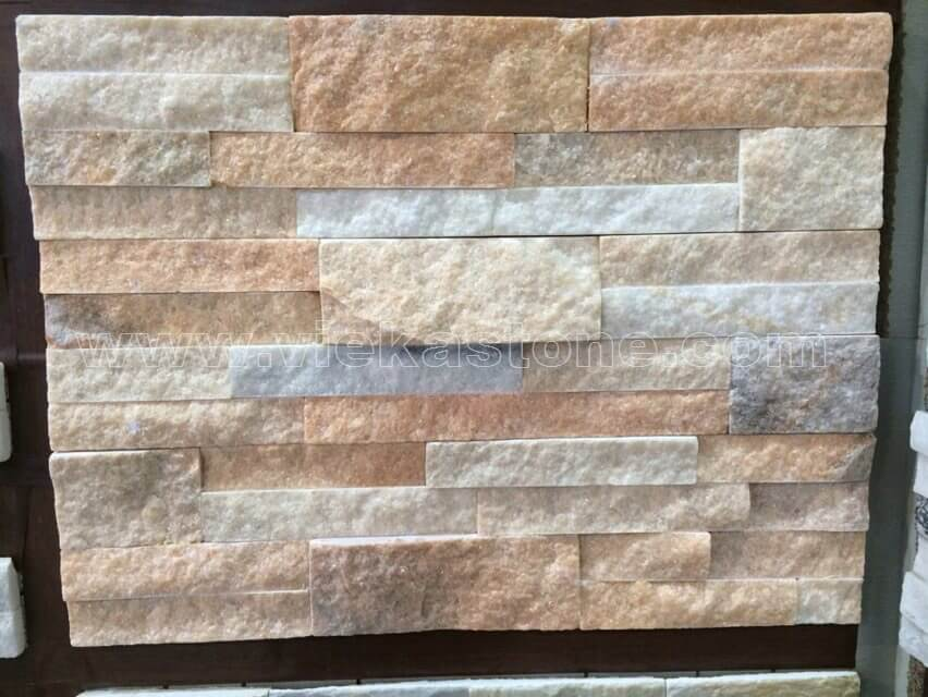 Crystal Pink Stone Panels Wall Cladding Square Rectangle Shape 4