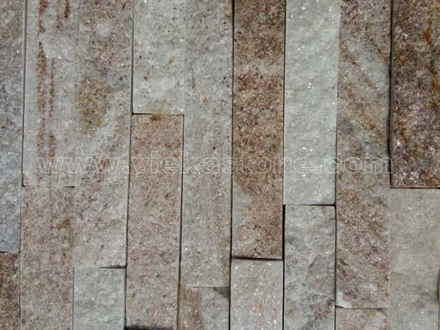 Golden Line Slate Stone Panels Wall Cladding Rectangle Shape 4