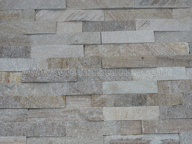 Golden Line Slate Stone Panels Wall Cladding Rectangle Shape 5