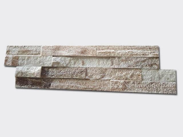 Golden line slate stone cladding wall panels Z shape 1