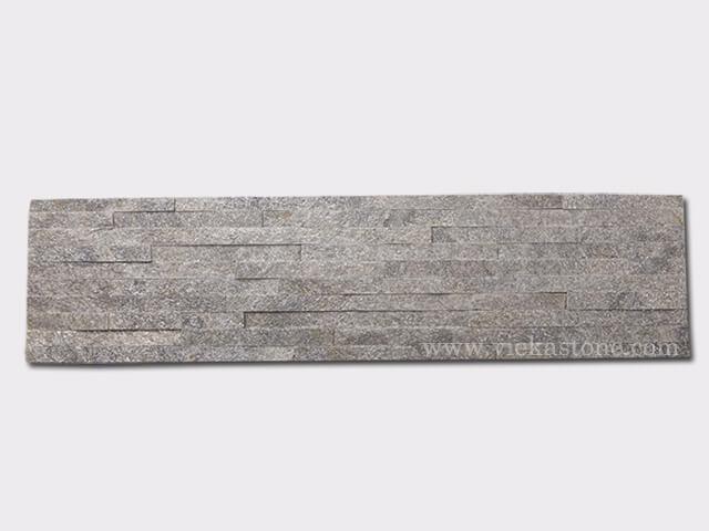 Green Quartz Stone Panels Wall Cladding 10 line Rectangle Shape