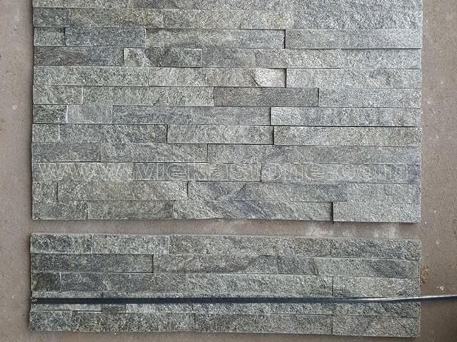 Green Quartz Stone Panels Wall Cladding Rectangle Shape 2