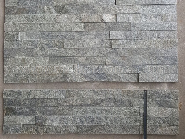 Green Quartz Stone Panels Wall Cladding Rectangle Shape 3
