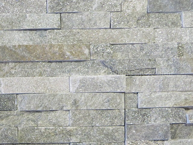 Green Quartz Stone Panels Wall Cladding Rectangle Shape 4
