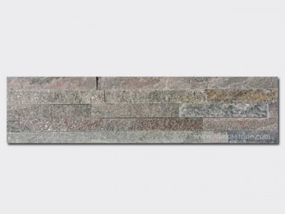 Grey Quartz Stone Panels Wall Cladding Rectangle Shape 1