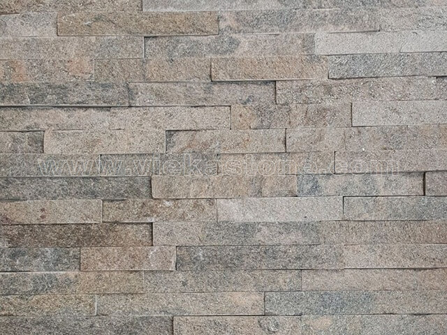 Grey Quartz Stone Panels Wall Cladding Rectangle Shape 4