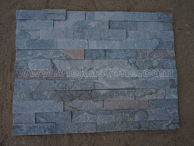 Grey Quartz Stone Panels Wall Cladding Rectangle Shape 5