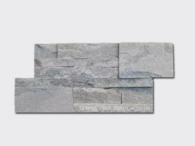 Grey Quartz culture stone wall panel 35x18cm 1