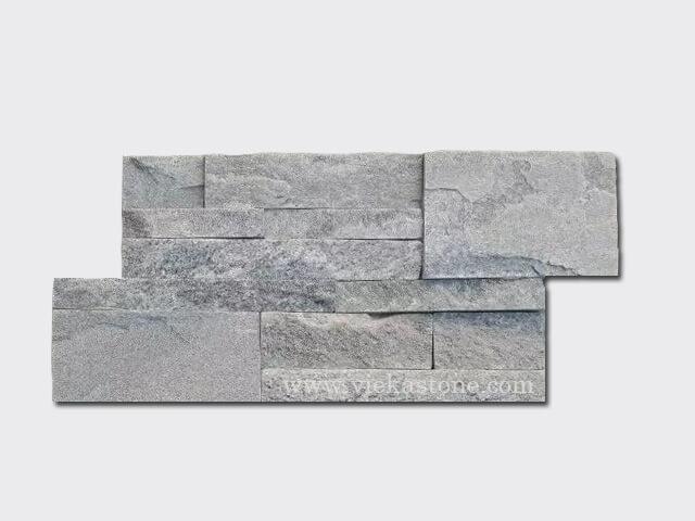 Grey Quartz culture stone wall panel 35x18cm 1