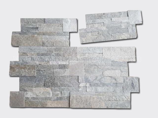 Grey Quartz culture stone wall panel 35x18cm 2