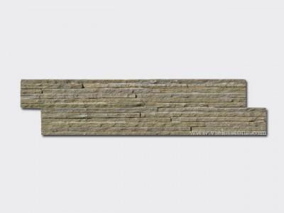 Grey Rusty Slate stone cladding wall panels waterfall Z shape 1