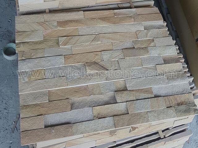 Landscape Sandstone Stone Panels Wall Cladding Rectangle Shape 5