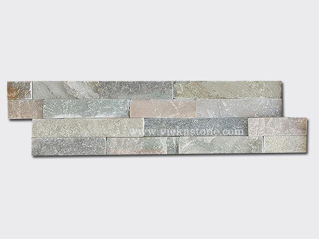 Mixed Yellow Slate Slate Stone Cladding Wall Panels z shape 1