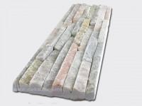 Mixed Yellow Slate Stone Panels Wall Cladding 8 line Rectangle Shape 1