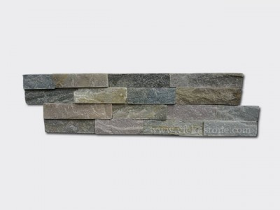 mixed yellow slate thin stone veneer slim panel 1