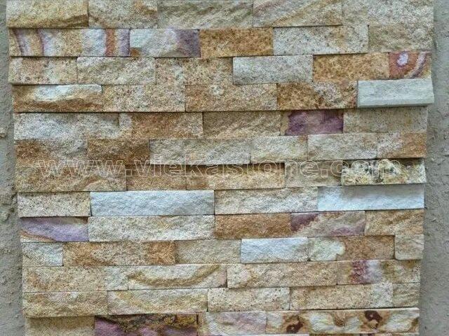 Multicolor Sandstone Stone Panels Wall Cladding Rectangle Shape 4