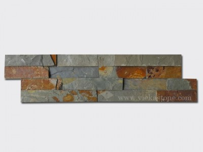 Multicolor Slate Stone Cladding Wall Panels z shape 1